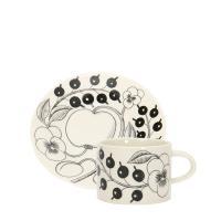 【あすつく】 アラビア Arabia ブラックパラティッシ カップ&ソーサー 【16.5cm】セット【5%還元】