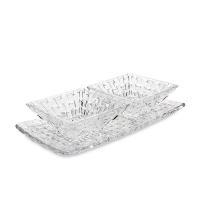 ナハトマン Nachtmann ボサノバ ボウル&プレート 3点セット レクタングラープレート スクエアボウル ペア 90026 Bossa Nova 皿 ガラス