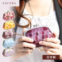 がま口財布 レディース SACURA サクラ 本革 日本製
