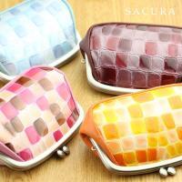がま口財布 レディース SACURA サクラ 本革 日本製|gobangai|02