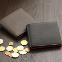二つ折り財布 メンズ シープスキン調牛革 日本製 本革|gobangai