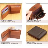 二つ折り財布 メンズ シープスキン調牛革 日本製 本革|gobangai|05