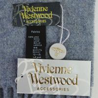 ヴィヴィアンウエストウッド マフラー ウール100% ブルー系 50552 新品