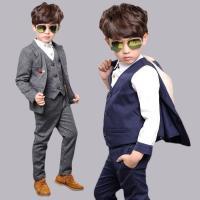 【商品名】 男の子 フォーマル スーツ 5点セット   【セット】 ジャケット ベスト ブラウス ズ...