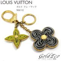 LOUISVUITTON【ルイヴィトン】ポルトクレナイフM66142チャームキーホルダーキーリングモ...