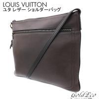 LOUIS VUITTON 【ルイヴィトン】 ユタ サックプラ ショルダーバッグ ブラウン レザー ...
