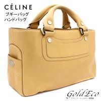 CELINE 【セリーヌ】 ブギーバッグ  カーフ レザー ベージュ ハンドバッグ CE00/14 ...