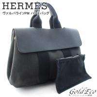 HERMES 【エルメス】 ヴァルパライソPM ミニ ハンドバッグ トートバッグ キャンバス レザー...
