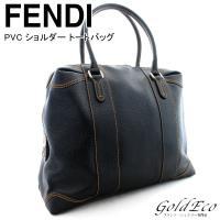 FENDI 【フェンディ】 トートバッグ ショルダーバッグ 8BL096 ブラック 黒 PVC コー...