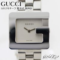 GUCCI【グッチ】Gロゴモチーフ 電池式 腕時計 レディース クォーツ ステンレス シルバー 銀色...