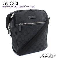 GUCCI 【グッチ】 GGキャンバス ショルダーバッグ ブラック 03136・1956 【中古】 ...