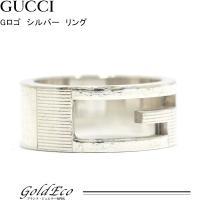 GUCCI【グッチ】Gロゴリング シルバーSV925リング約9.5号 ロゴメンズ レディース 指輪ア...