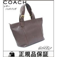 COACH【コーチ】 レザー ハンドバッグ 4133 ブラウン×ゴールド金具 ミニトートバッグ レデ...