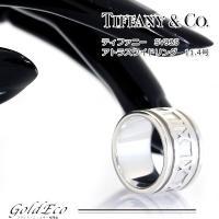 【仕上げ済み】TIFFANY【ティファニー】アトラスワイドリングシルバー925リング指輪約11.4号...