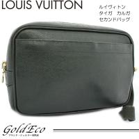 LOUIS VUITTON【ルイヴィトン】タイガ カルガ セカンドバッグ エピセア グリーン M30...