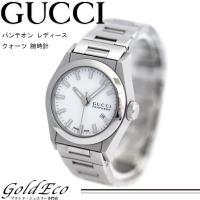 【送料無料】GUCCI【グッチ】パンテオンレディースクォーツ腕時計【中古】115.5シルバー×ホワイ...
