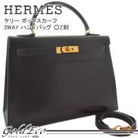 HERMES【エルメス】 ケリー32 ボックスカーフ 2WAY ハンドバッグ ○Z刻 ショルダーバッ...