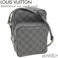 LOUIS VUITTON 【ルイヴィトン】  ダミエ グラフィット レム ショルダーバッグ N41...