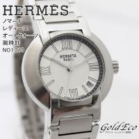 【送料無料】HERMES【エルメス】ノマード レディース オートクォーツ 腕時計 デイト機能 アナロ...