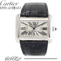 Cartier 【カルティエ】 タンク ディヴァンLM オートマティックシルバー 純正レザーベルト ...