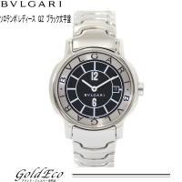 BVLGARI 【ブルガリ】 ソロテンポ レディース 腕時計クォーツ ST 29 S ブラック文字盤...