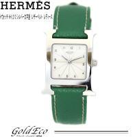 HERMES 【エルメス】 Hウォッチ レディース クォーツ 腕時計HH1.210 SS/レザーベル...