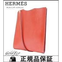 HERMES 【エルメス】 オニメトゥ ミニポシェット レザー ショルダーバッグ □F刻 ブラウン系...