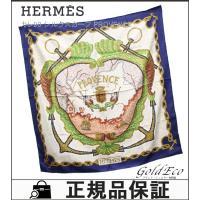 HERMES 【エルメス】カレ90 大判 スカーフ シルク PROVENCE タイル アイボリー ネ...