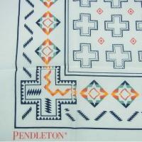 PENDLETON ペンドルトン BANDANA GZ906 バンダナ ハンカチ スカーフ コットン ネイティブ柄 ホワイト メンズ レディース
