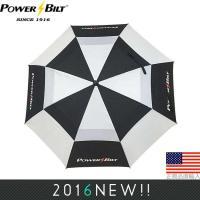 パワービルト POWER BILT ダブルキャノピー 62インチ ゴルフアンブレラ (Windcutter Umbrella) PB702281