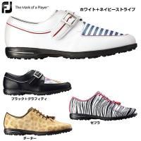 送料無料 フットジョイ FootJoy 女性用 ゴルフ シューズ 靴 クツ スパイクレス 白 ストラ...