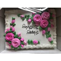 コストコ 『ハーフシートケーキ』デザインが選べるオーダーケーキ!(ホワイトorチョコ)48人分 約42x33cm 特大ケーキ Costco お誕生日ケーキ