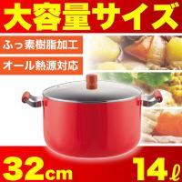 一度にたっぷり作れるメガサイズのお鍋! カレーやシチューなど、一度にたくさんの調理ができる大型のお鍋...