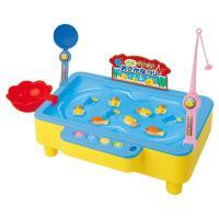 水を入れて遊ぼう お魚つりゲームDX  水に浮かぶおさかなたちをつり上げよう スクリューが回転して水...