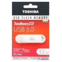 東芝製・高速32GB【USBメモリV3SZK-032G-WH】USB3.0/2.0両対応・R=70M...