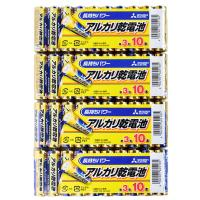 アルカリ乾電池40本セット【三菱単3電池LR6N/10S x4パック】水銀0・1.5V・MITSUB...
