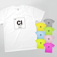 Tシャツ 塩素 元素記号 フロントプリント