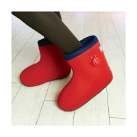 世界初のブーツ型湯たんぽゴム底付きです!自宅でお手軽に足が濡れずに足湯の感覚を体感できる世界初のブー...