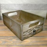 アンティーク風に仕上げたスタッキングウッドボックスです。収納ケースやガーデニング、キッチン小物などで...