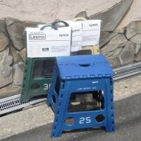折り畳みが可能で、収納、持ち運びに便利なシンプルでおしゃれなスツール、FOLDING STOOL L...