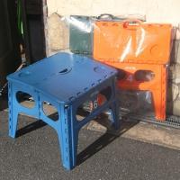 折り畳みが可能で、収納、持ち運びに便利なアメリカンテイストのテーブル、FOLDING TABEL A...