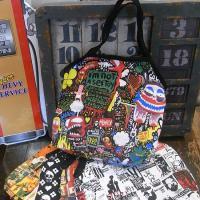 企業広告や企業ロゴでデザインされたアメリカントートバッグです。エコバッグなどのご使用にも最適です。キ...