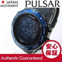 ブランド名:PULSAR (パルサー) /  商品名:PQ2021 デジタル クロノグラフ ブラック...