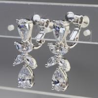 送料無料でCZダイヤモンドの大粒ゴージャスイヤリング