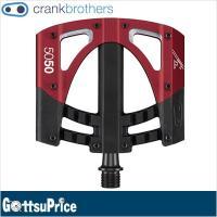 クランクブラザーズ 5050 3 フラットペダル ブラック/レッド(641300135599)  5...