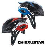 EXUSTAR  自転車ヘルメット (バイザー付き)E-BHM113  カラー: レッド ブルー  ...
