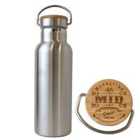 【期間限定セール】  保温効力も普通のボトルより長時間持続 味のあるウッド素材のキャップ あえて蓋を...