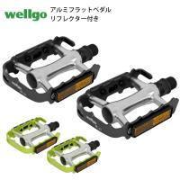 Wellgo ウェルゴ  M-21フラットペダル(取外し可能/反射板付き)  オールアルミの薄型片面...