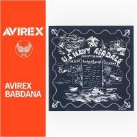 【国内正規品】Avirex アビレックス バンダナ ネイビーカラー Avirex BANDANA 6119030-87 【アヴィレックス・ミリタリー・日本製・メール便対応】