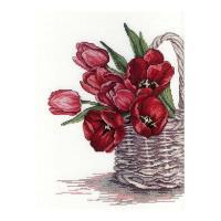 MPスタジオ/MP Studia クロスステッチ刺繍キット 幸せの花 18ct 静物 チューリップ